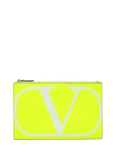 Valentino Garavani Clutch / El Çantası Sarı